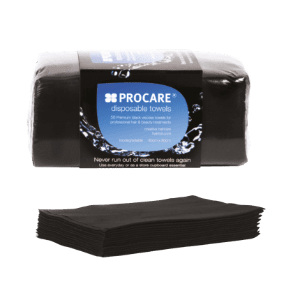 Procare black towel